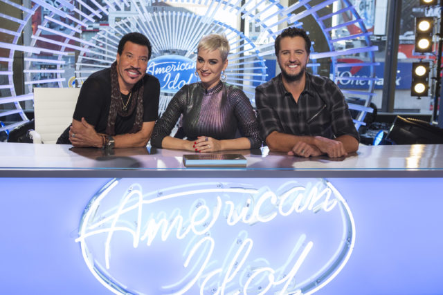 "AMERICAN IDOL - ABC's ""American Idol"" judges Lionel Richie, Katy Perry and Luke Bryan. (ABC/Eric Liebowitz)"