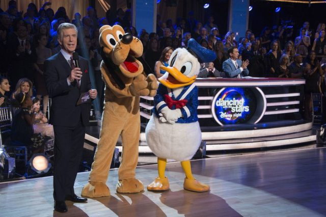 Dancing with the Stars 25 Tom Bergeron with Disney Characters