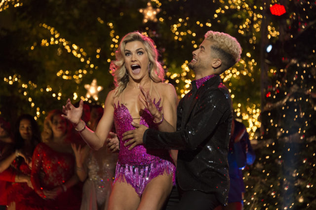 """DANCING WITH THE STARS - """"Episode 2511"""" - On night two, the remaining three couples will have one last night of competitive dancing, vying to score some extra judges' points. Additionally, viewers can participate in an online-only vote for the remaining couples, where, at the end of the night, one of them will be crowned the """"Dancing with the Stars"""" champion, culminating an incredible season, which will be announced live from The Grove on TUESDAY, NOV. 21 (9:00-11:00 p.m. EST). (ABC/Eric McCandless) LINDSAY ARNOLD, JORDAN FISHER"""