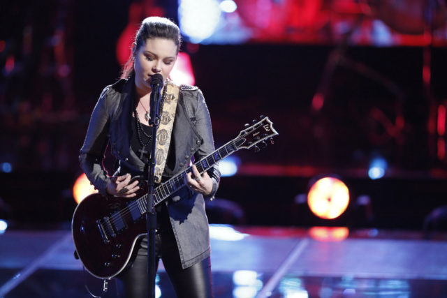 """THE VOICE -- """"Playoff Rounds"""" -- Pictured: Moriah Formica -- (Photo by: Tyler Golden/NBC)"""