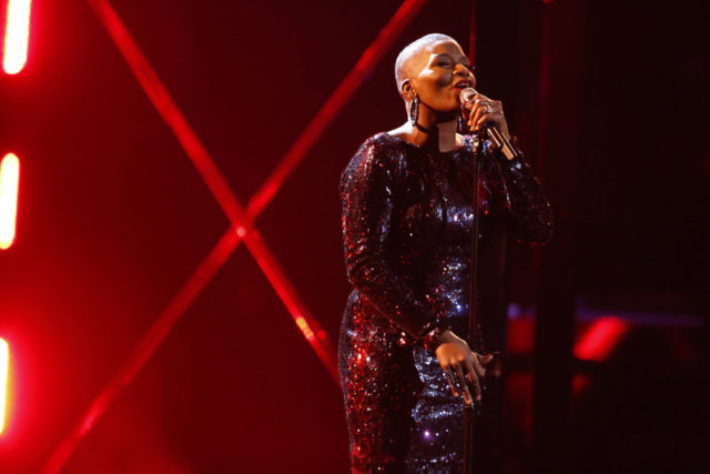 """THE VOICE -- """"Live Top 12"""" Episode 1317A -- Pictured: Janice Freeman -- (Photo by: Trae Patton/NBC)"""