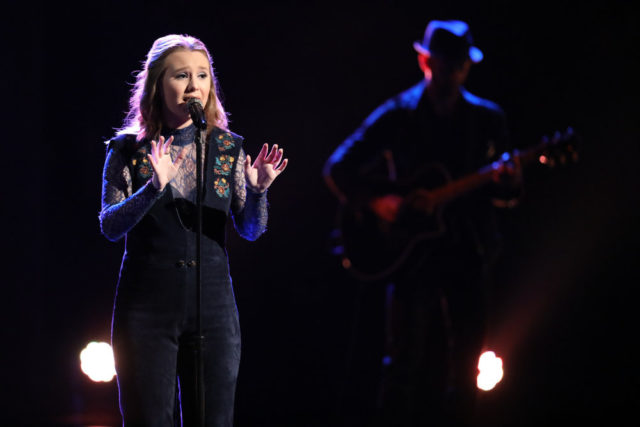 "THE VOICE -- ""Live Top 11"" Episode 1318A -- Pictured: Addison Agen -- (Photo by: Tyler Golden/NBC)"