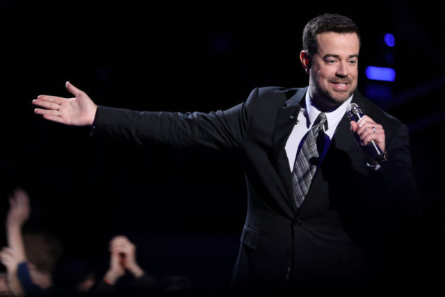 "THE VOICE -- ""Live Top 11"" Episode 1318B -- Pictured: Carson Daly -- (Photo by: Tyler Golden/NBC)"