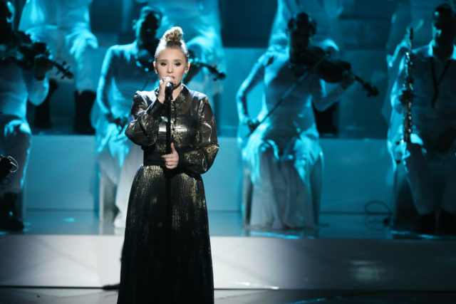 """THE VOICE -- """"Live Semi Finals"""" Episode 1320A -- Pictured: Addison Agen -- (Photo by: Tyler Golden/NBC)"""