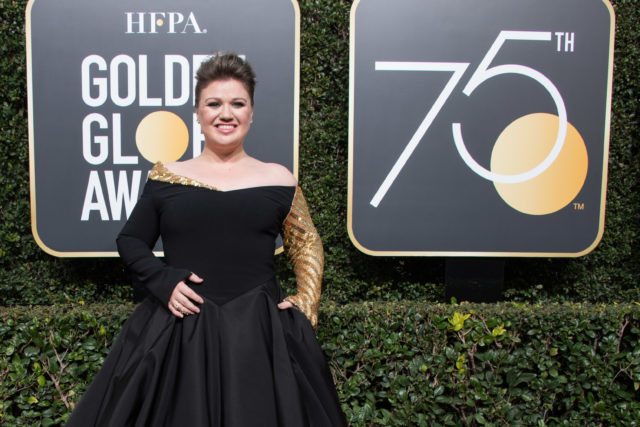Kelly Clarkson attends the 75th Annual Golden Globes Awards at the Beverly Hilton in Beverly Hills, CA on Sunday, January 7, 2018.