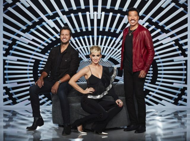 "AMERICAN IDOL - ABC's ""American Idol"" judges Luke Bryan, Katy Perry and Lionel Richie. (ABC/Craig Sjodin)"