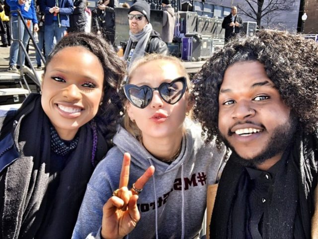 Jennifer Hudson Miley Cyrus Davon Fleming March for Our Lives