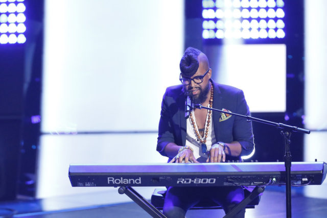 """THE VOICE -- """"Blind Auditions"""" -- Pictured: Terrence Cunningham -- (Photo by: Tyler Golden/NBC)"""