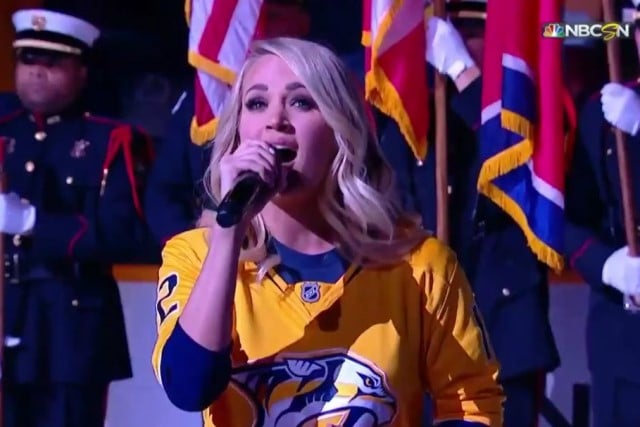 Carrie Underwood Anthem Stanley Cup 2018