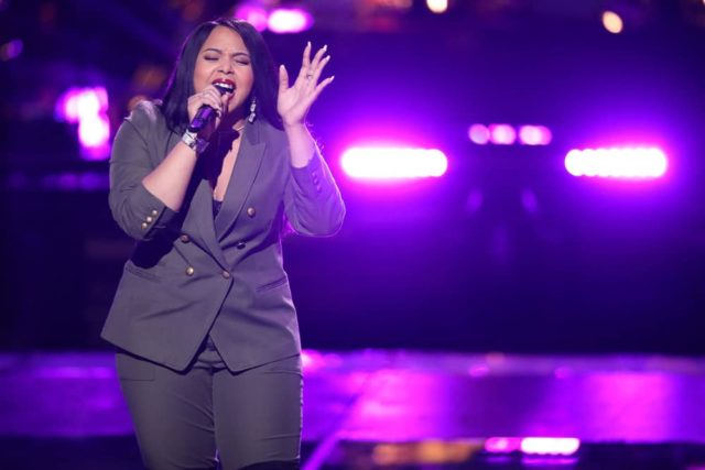 "THE VOICE -- ""Knockout Rounds"" -- Pictured: Sharane Calister -- (Photo by: Tyler Golden/NBC)"