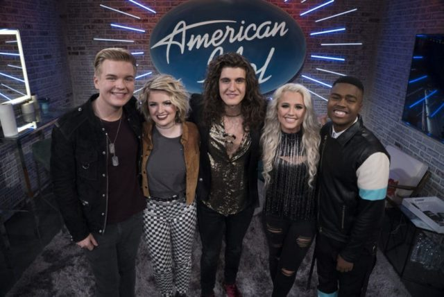 """AMERICAN IDOL - """"116 (Top 7)"""" - The Top 7 finalists perform two songs this week, battling it out for AmericaÕs vote to make it into the Top 5, as the search for AmericaÕs next superstar continues on its new home on AmericaÕs network, The ABC Television Network, SUNDAY, MAY 6 (8:00-10:01 p.m. EDT, 5:00-7:01 p.m. PDT). (ABC/Eric McCandless) CALEB LEE HUTCHINSON, MADDIE POPPE, CADE FOEHNER, MICHAEL J. WOODARD"""