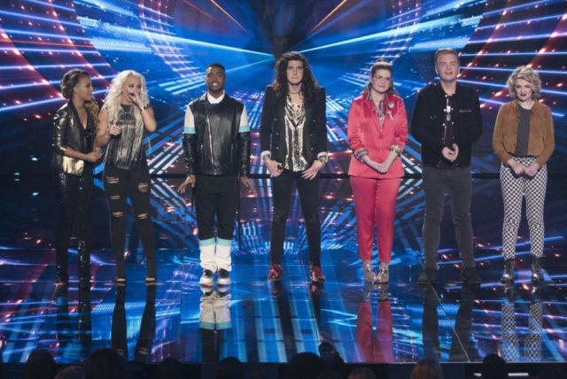 """AMERICAN IDOL - """"116 (Top 7)"""" - The Top 7 finalists perform two songs this week, battling it out for AmericaÕs vote to make it into the Top 5, as the search for AmericaÕs next superstar continues on its new home on AmericaÕs network, The ABC Television Network, SUNDAY, MAY 6 (8:00-10:01 p.m. EDT, 5:00-7:01 p.m. PDT). (ABC/Eric McCandless) JURNEE, GABBY BARRETT, MICHAEL J. WOODARD, CADE FOEHNER, CATIE TURNER, CALEB LEE HUTCHINSON, MADDIE POPPE"""