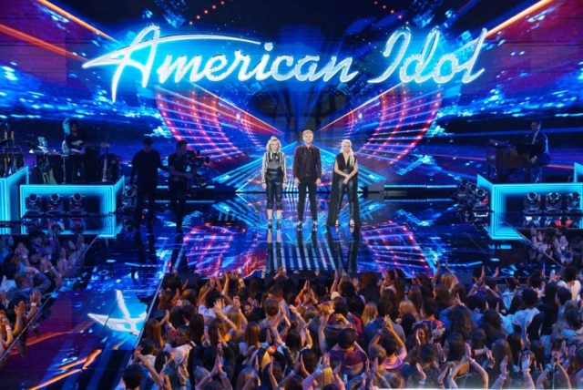 "AMERICAN IDOL - ""118 (Performance Finals)"" - In part one of the two-night season finale, the Top 3 finalists visit their hometowns to celebrate their time on the show then return to the Idol stage for their last chance to win America's vote, as the search for America's next superstar continues on its new home on America's network, The ABC Television Network, SUNDAY, MAY 20 (8:00-10:01 p.m. EDT). (ABC/Eric McCandless) MADDIE POPPE, CALEB LEE HUTCHINSON, GABBY BARRETT"