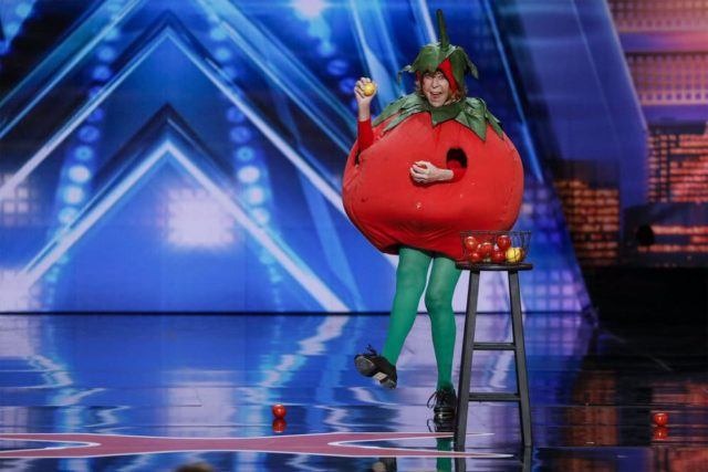 """AMERICA'S GOT TALENT -- """"Auditions 1"""" Episode 1301 -- Pictured: Tappin' Tomato -- (Photo by: Trae Patton/NBC)"""