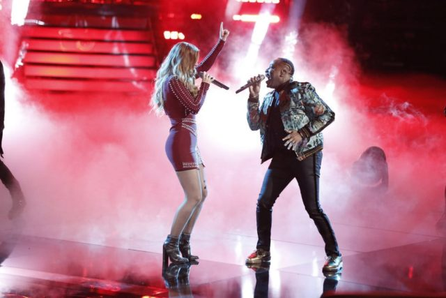 """THE VOICE -- """"Live Semi Finals"""" Episode 1418A -- Pictured: (l-r) Jackie Foster, Rayshun Lamarr -- (Photo by: Tyler Golden/NBC)"""