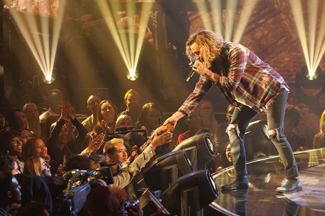 THE FOUR: BATTLE FOR STARDOM: Challenger Noah Barlass performs in the