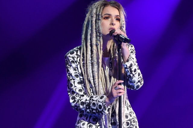 "THE FOUR: BATTLE FOR STARDOM: Season one contestant Zhavia performs in the ""Week Seven"" episode of THE FOUR: BATTLE FOR STARDOM airing Thursday, July 26 (8:00-10:00 PM ET/PT) on FOX. CR: Ray Mickshaw / FOX. © 2018 FOX Broadcasting Co."
