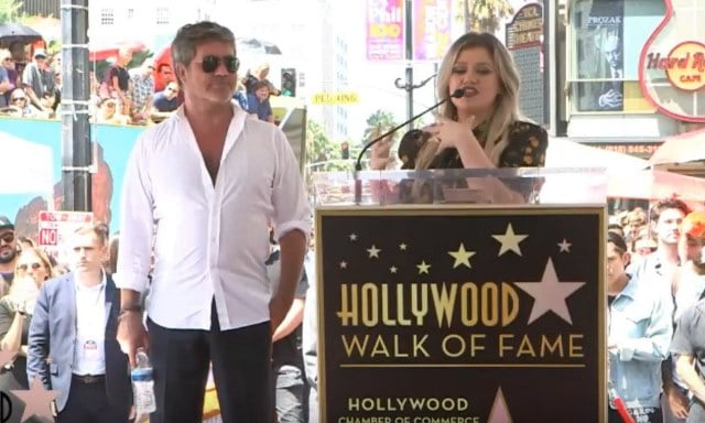 Simon Cowell, Kelly Clarkson, Hollywood Walk of Fame