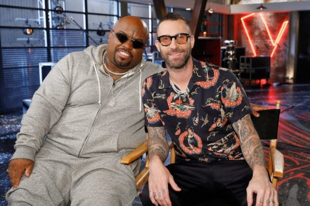 Adam Levine and CeeLo Green The Voice
