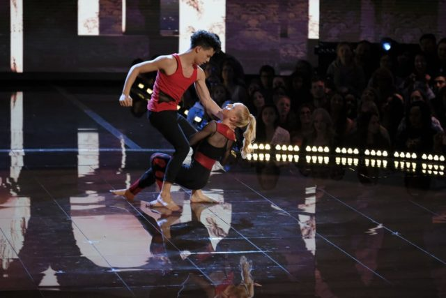 """WORLD OF DANCE -- """"Duels"""" Episode 210 -- Pictured: Charity & Andres -- (Photo by: Justin Lubin/NBC)"""