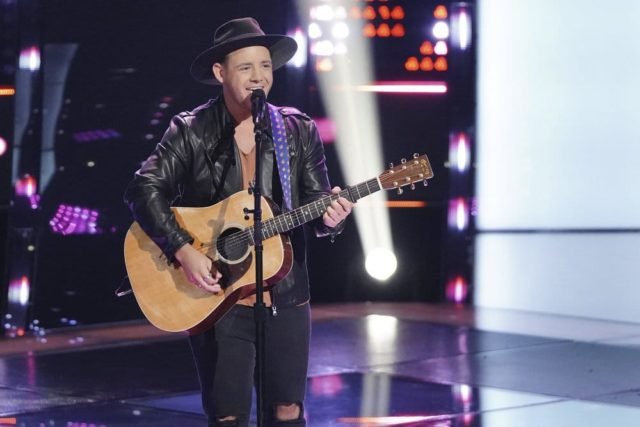 """THE VOICE -- """"Blind Auditions"""" Episode 1501 -- Pictured: Kameron Marlowe -- (Photo by: Tyler Golden/NBC)"""