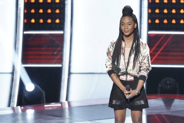 "THE VOICE -- ""Blind Auditions"" Episode 1501 -- Pictured: Kennedy Holmes -- (Photo by: Tyler Golden/NBC)"