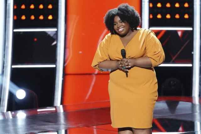 """THE VOICE -- """"Blind Auditions"""" Episode 1503 -- Pictured: Kymberli Joye -- (Photo by: Tyler Golden/NBC)"""
