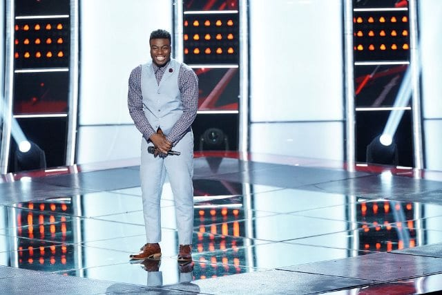 THE VOICE -- ?Blind Auditions? Episode 1505 -- Pictured: Kirk Jay -- (Photo by: Tyler Golden/NBC)
