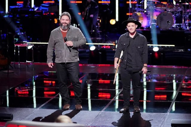 """THE VOICE -- """"Knockout Rounds"""" Episode 1512 -- Pictured: (l-r) Dave Fenley, Kameron Marlowe -- (Photo by: Tyler Golden/NBC)"""