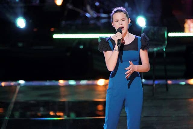 THE VOICE -- ?Knockout Rounds? Episode 1511 -- Pictured: Reagan Strange -- (Photo by: Tyler Golden/NBC)