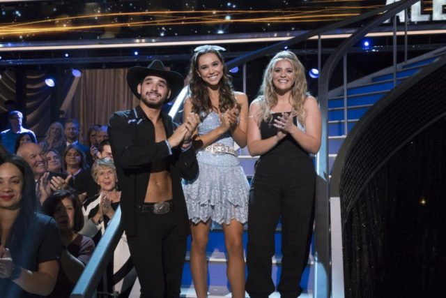 "DANCING WITH THE STARS - ""Episode 2707: Country Night"" - Eight remaining couples dance to some of the biggest country music songs during ""Country Night"" on ""Dancing with the Stars,"" live on MONDAY, NOV. 5 (8:00-10:00 p.m. EST), on The ABC Television Network. (ABC/Eric McCandless) ALAN BERSTEN, ALEXIS REN, LAUREN ALAINA"