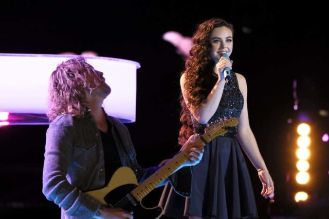 "THE VOICE -- ""Live Top 11"" Episode 1516A -- Pictured: Chevel Shepherd -- (Photo by: Trae Patton/NBC)"