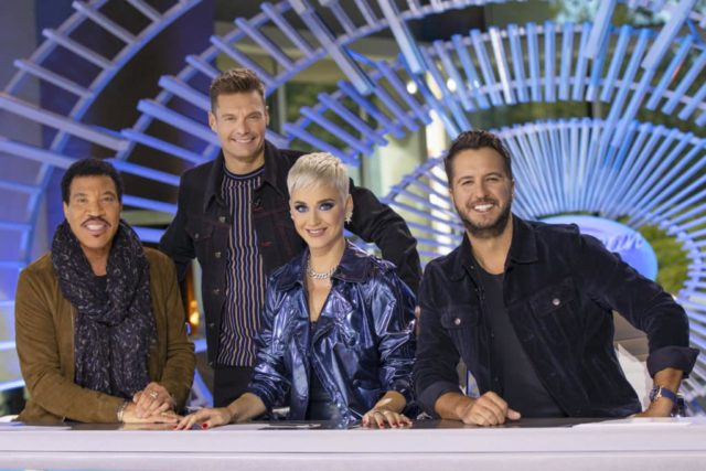 American Idol is returning to The ABC Television Network for the 2018-2019 season. (ABC/Josh Vertucci) LIONEL RICHIE, RYAN SEACREST, KATY PERRY, LUKE BRYAN