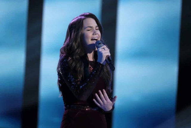 "THE VOICE -- ""Live Top 10"" Episode 1517A -- Pictured: Reagan Strange -- (Photo by: Trae Patton/NBC)"