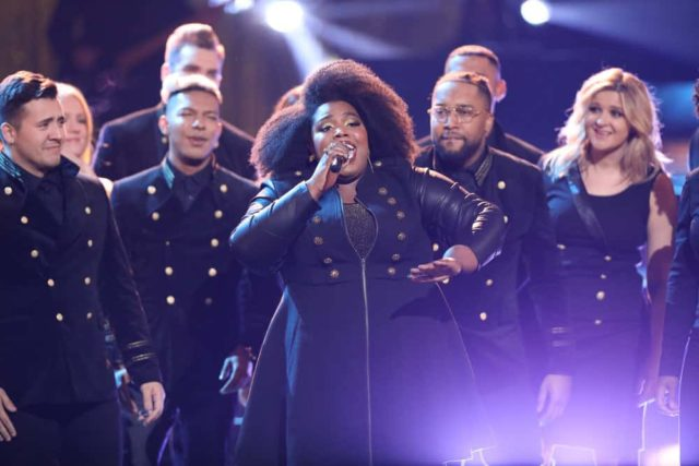 "THE VOICE -- ""Live Semi Finals"" Episode 1518A -- Pictured: Kymberli Joye -- (Photo by: Tyler Golden/NBC)"