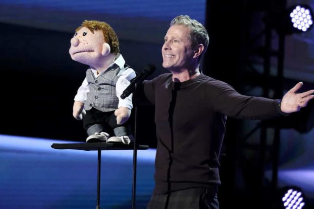 """AMERICA'S GOT TALENT: THE CHAMPIONS -- """"The Champions Four"""" Episode 104 -- Pictured: Paul Zerdin -- (Photo by: Trae Patton/NBC)"""