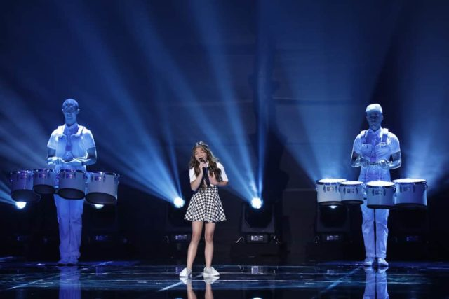 """AMERICA'S GOT TALENT: THE CHAMPIONS -- """"The Champions Three"""" Episode 103 -- Pictured: Angelica Hale -- (Photo by: Trae Patton/NBC)"""
