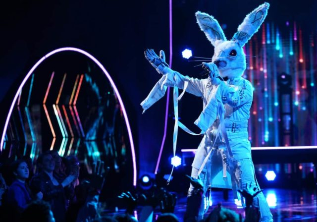 """THE MASKED SINGER: Rabbit in the """"Semi Finals: Double Unmasking"""" episode of THE MASKED SINGER airing Wednesday, Feb. 20 (9:00-10:00 PM ET/PT) on FOX. © 2019 FOX Broadcasting. Cr. Michael Becker / FOX."""
