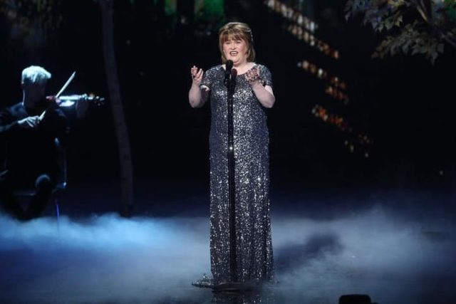 "AMERICA'S GOT TALENT: THE CHAMPIONS -- ""The Champions Finals"" Episode 106 -- Pictured: Susan Boyle -- (Photo by: Jordin Althaus/NBC)"