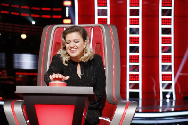 "THE VOICE -- ""Blind Auditions"" Episode 1601 -- Pictured: Kelly Clarkson -- (Photo by: Trae Patton/NBC)"