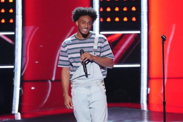 "THE VOICE -- ""Blind Auditions"" -- Pictured: Domenic Haynes -- (Photo by: Tyler Golden/NBC)"