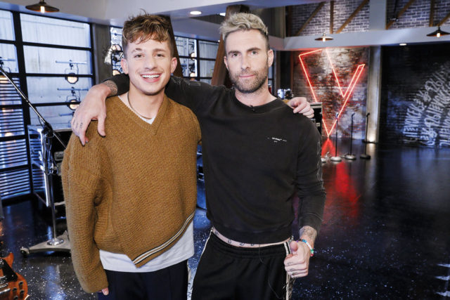 """THE VOICE -- """"Battle Reality"""" -- Pictured: (l-r) Charlie Puth, Adam Levine -- (Photo by: Trae Patton/NBC)"""