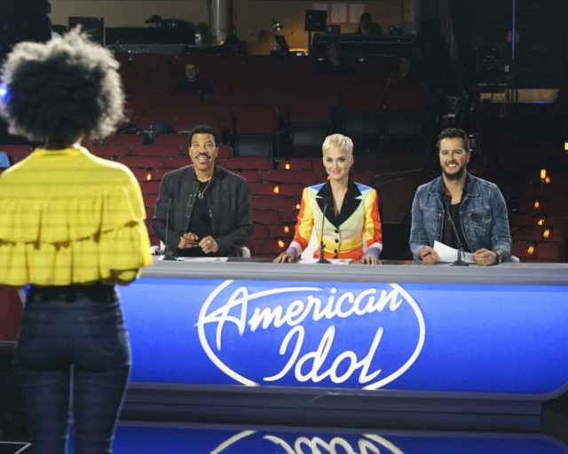 "AMERICAN IDOL - ""Hollywood Week"" - ""American Idol"" contestants continue to vie for their chance at stardom while in the heart of Los Angeles, as the search for AmericaÕs next superstar continues on The ABC Television Network, SATURDAY, MARCH 30 (8:00 - 10:00 p.m. EDT), streaming and on demand. (ABC/Eric McCandless) LIONEL RICHIE, KATY PERRY, LUKE BRYAN"