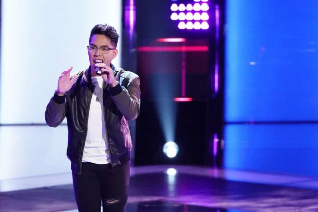 """THE VOICE -- """"Blind Auditions"""" -- Pictured: Jej Vinson -- (Photo by: Tyler Golden/NBC)"""