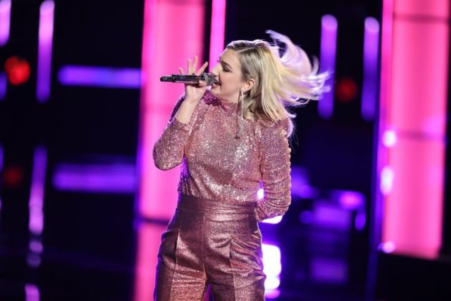 "THE VOICE -- ""Live Cross Battles"" Episode 1611A -- Pictured: Presley Tennant -- (Photo by: Tyler Golden/NBC)"