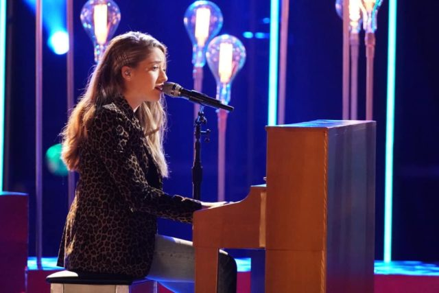 "THE VOICE -- ""Live Cross Battles Results"" Episode 1612B -- Pictured: Brynn Cartelli -- (Photo by: Tyler Golden/NBC)"