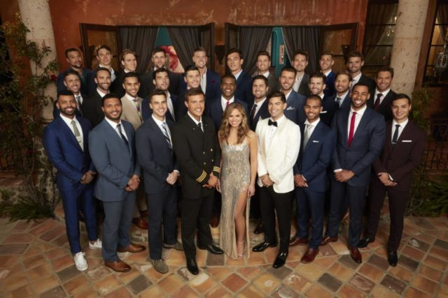 """THE BACHELORETTE - Hannah Brown caught the eye of Colton Underwood early on during the 23rd season of """"The Bachelor,"""" showing him, and all of America, what Alabama Hannah is made of - a fun country girl who is unapologetically herself. After being sent home unexpectedly, Hannah took the time to reflect on her breakup, gaining a powerful understanding of her desire to be deeply and fiercely loved. Now, with a newfound sense of self and a little southern charm, she is more ready than ever to find her true love on the milestone 15th season of """"The Bachelorette."""" (ABC/Craig Sjodin) (FRONT) DUSTIN, DARON, BRIAN, PETER, HANNAH BROWN, DYLAN, HUNTER, MIKE, CONNOR J. (MIDDLE) JOEY , CAM, DEVIN, TYLER G., MATTEO, JOE, JONATHAN, MATTHEW, JED, RYAN, CHASEN (BACK) THOMAS, CONNOR S., JOHN PAUL JONES, KEVIN, MATT D., TYLER C., GARRETT, GRANT, LUKE P., LUKE S."""