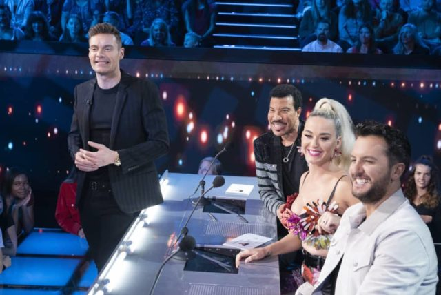 "AMERICAN IDOL - ""217"" - (ABC/Eric McCandless) RYAN SEACREST, LIONEL RICHIE, KATY PERRY, LUKE BRYAN"