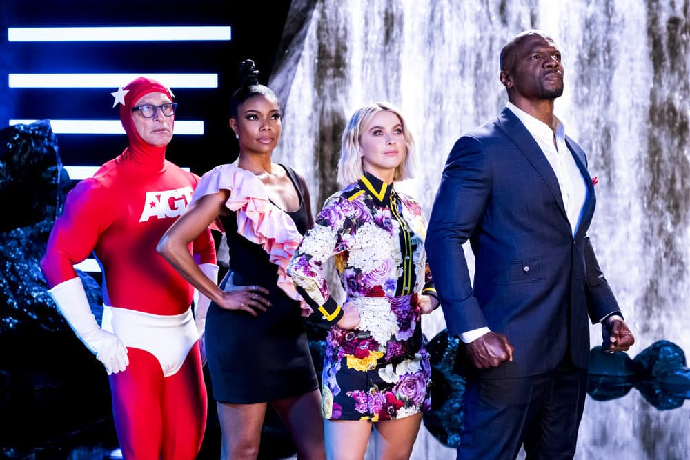 "AMERICA'S GOT TALENT -- ""America's Got Talent Promo"" -- Pictured: (l-r) Howie Mandel, Gabrielle Union, Julianne Hough, Terry Crews -- (Photo by: Justin Lubin/NBC)"