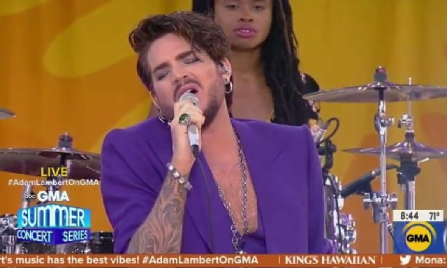 Adam Lambert on Good Morning American June 2019